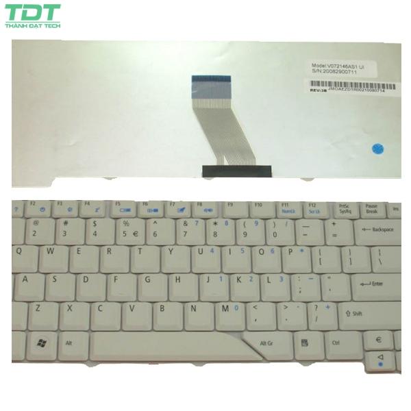 Bàn Phím Laptop Acer 4710 Trắng/đen