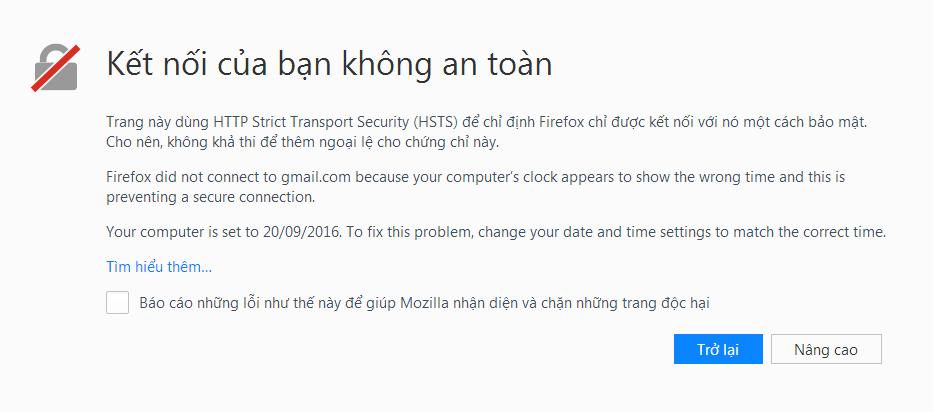 Loi sai ngay thang tren Firefox